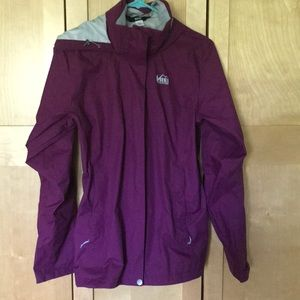 Plum Raincoat